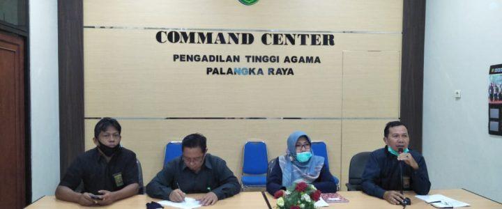 Sekretaris PTA Palangka Raya Gelar Zoom Meeting dengan PA Se-Kalteng