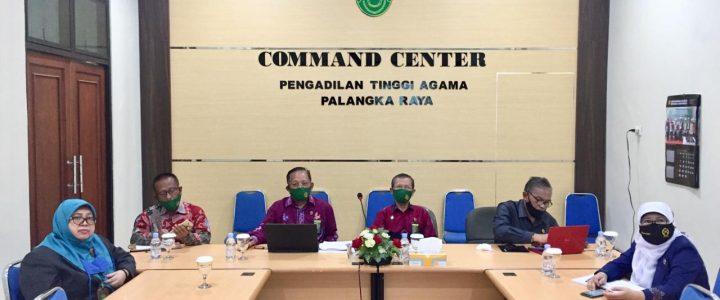 4 (Empat) Pilar Pengadilan Tinggi Agama Palangka Raya dan Hakim Tinggi  Ikuti Pembinaan Virtual Oleh Ketua Mahkamah Agung Republik Indonesia